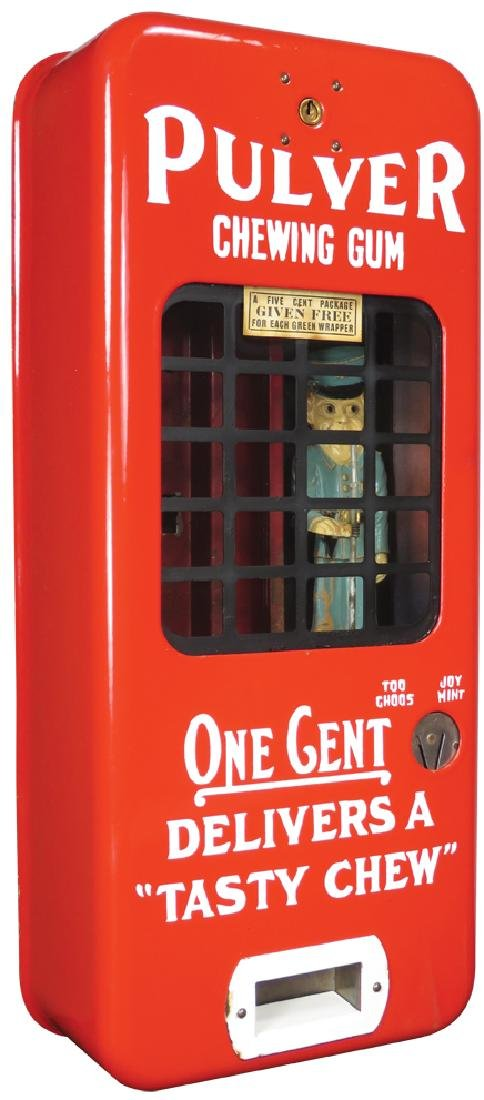 Pulver Chewing Gum Red Porcelain Dispenser