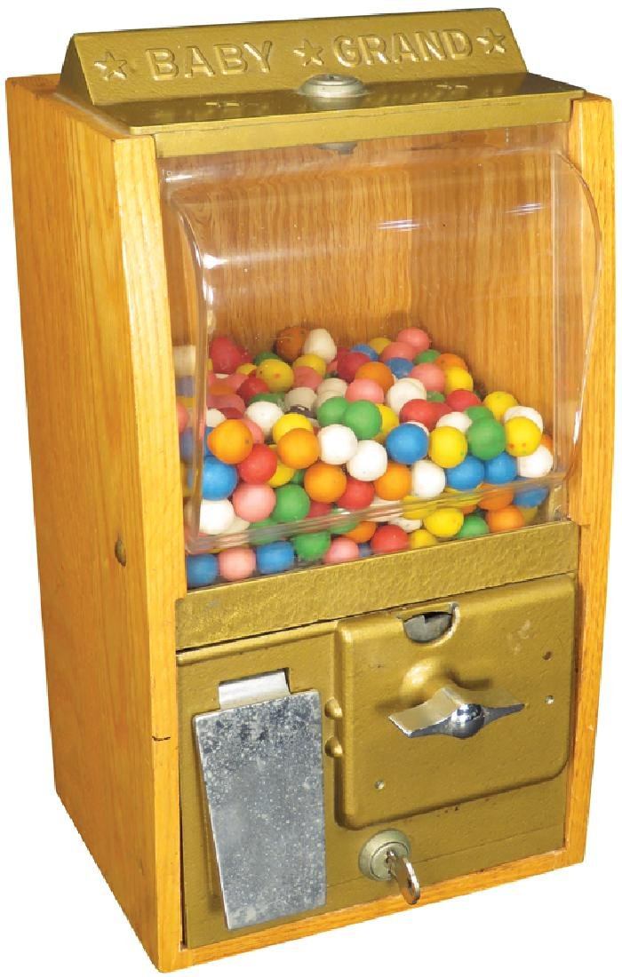 """1939 Baby Grand """"Gumball"""" Gambling Machine"""