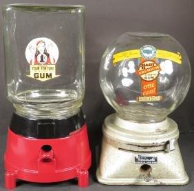 Two Gumball Machines