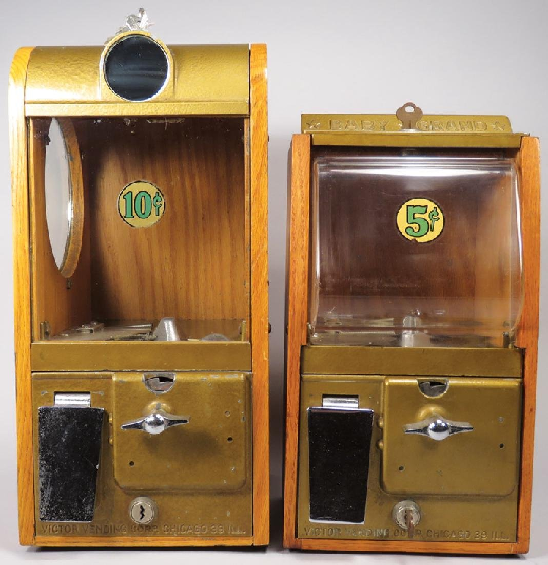 Two Victor Vending Corp. Gumball Machines