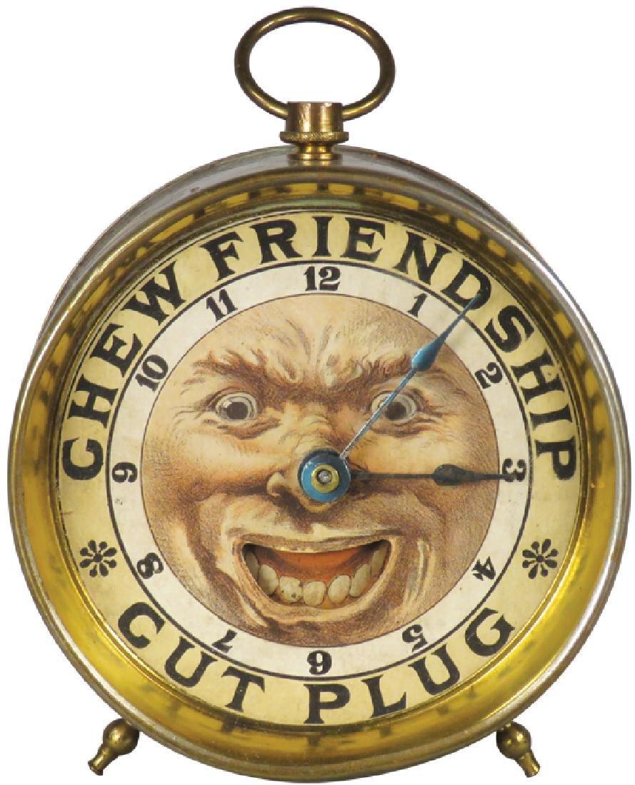 Rare Friendship Cut Plug Tobacco Novelty Clock