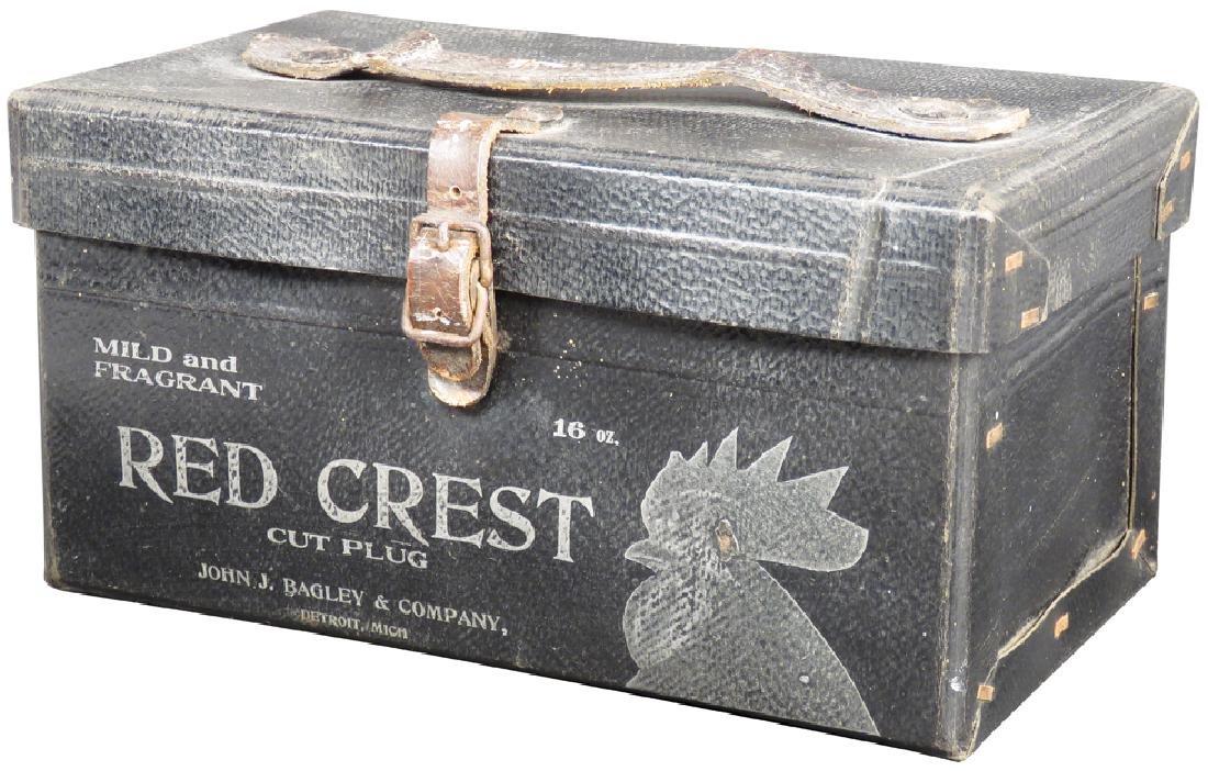 Red Crest Cut Plug Leather Tobacco Case