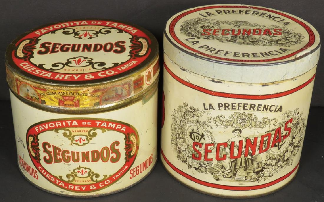 Two 50 Count Cigar Tins
