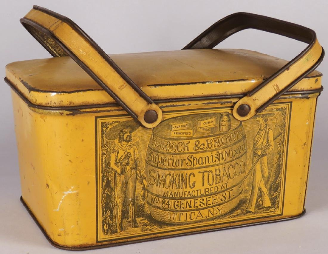 Warnick & Brown Lunch Pail Tobacco Tin