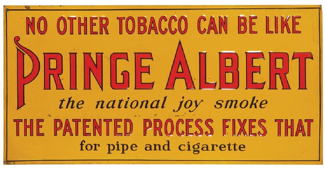 Prince Albert Tobacco Embossed Tin Sign