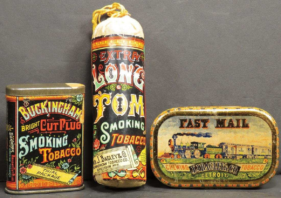 Collection of Detroit Tobacco Items