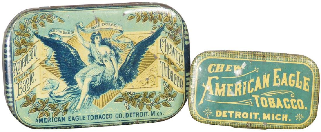 American Eagle Tobacco Tins, Detroit