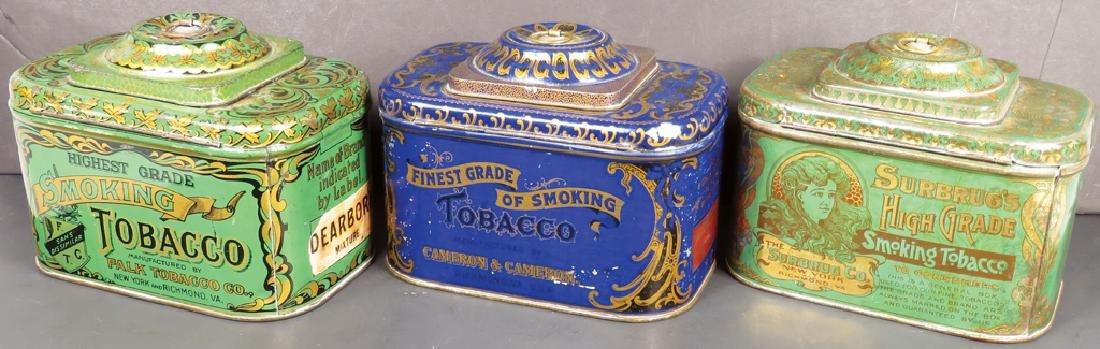 Three Dome Top Smoking Tobacco Tins - 2