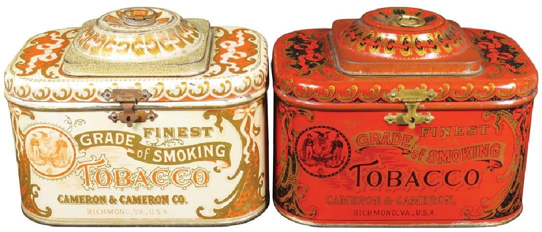 Cameron & Cameron Dome Top Tobacco Tins