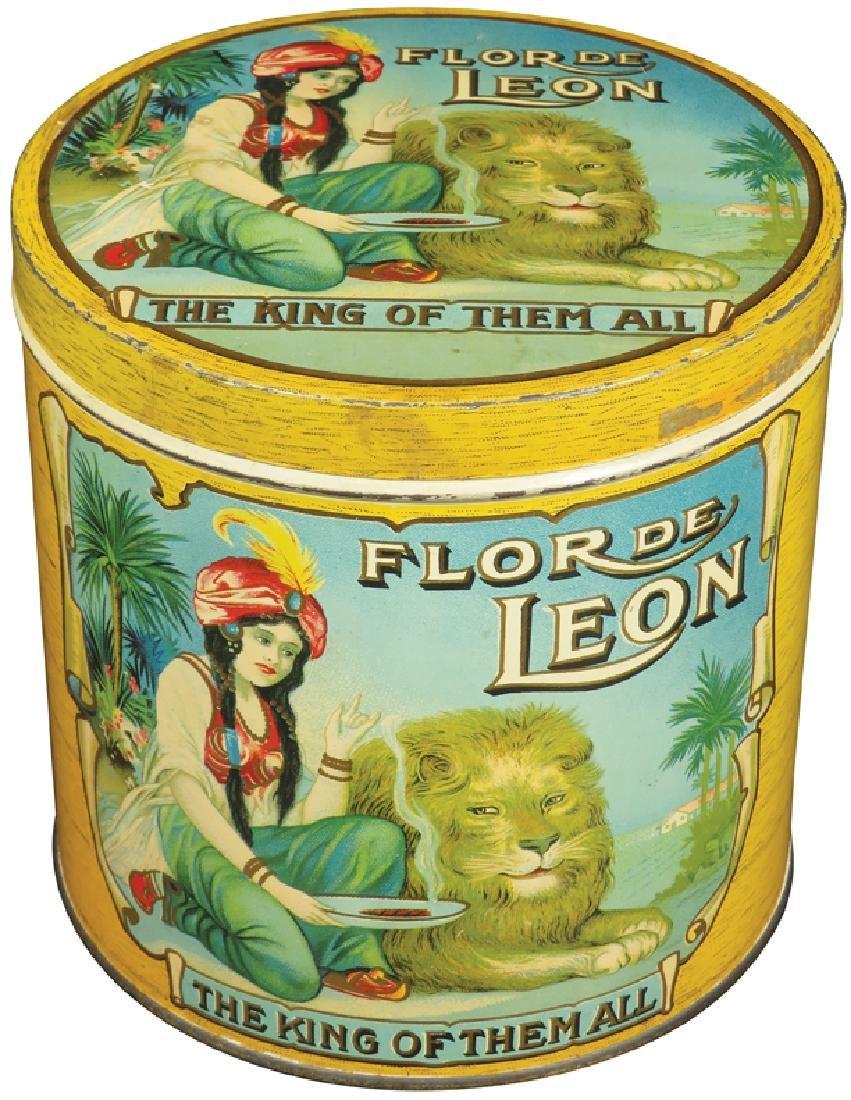 Rare Flor De Leon 50 Count Cigar Tin