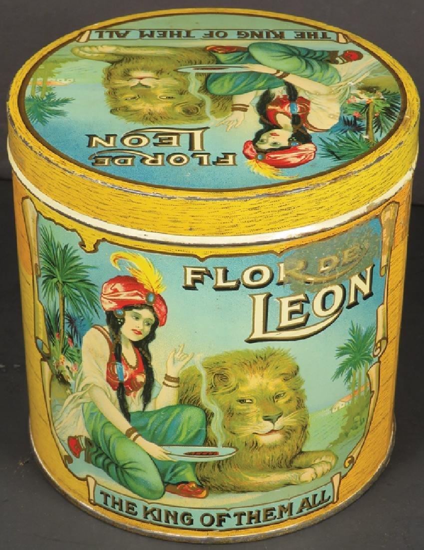 Rare Flor De Leon 50 Count Cigar Tin - 2