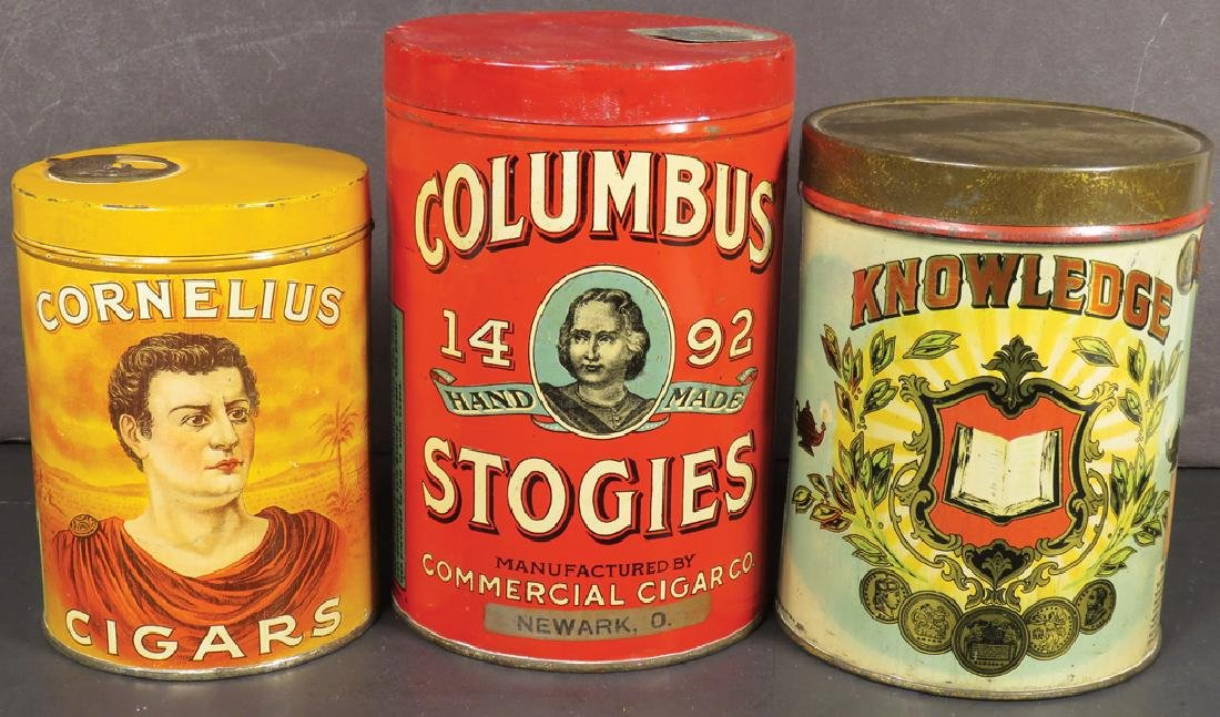 Collection of Three Cigar Tins