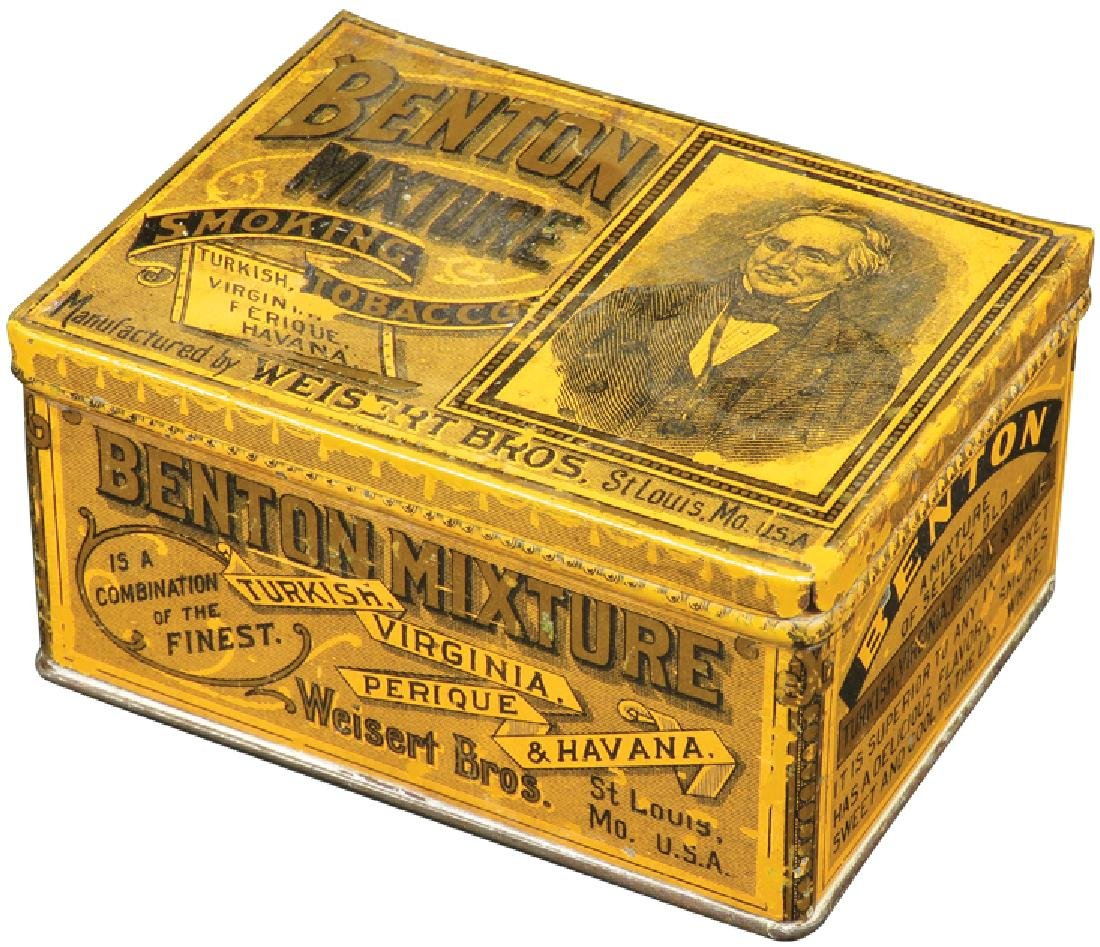 Benton Mixture Square Corner Tobacco Tin
