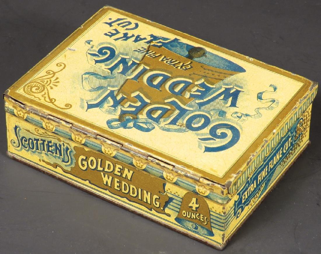 Golden Wedding Square Corner Tobacco Tin - 2