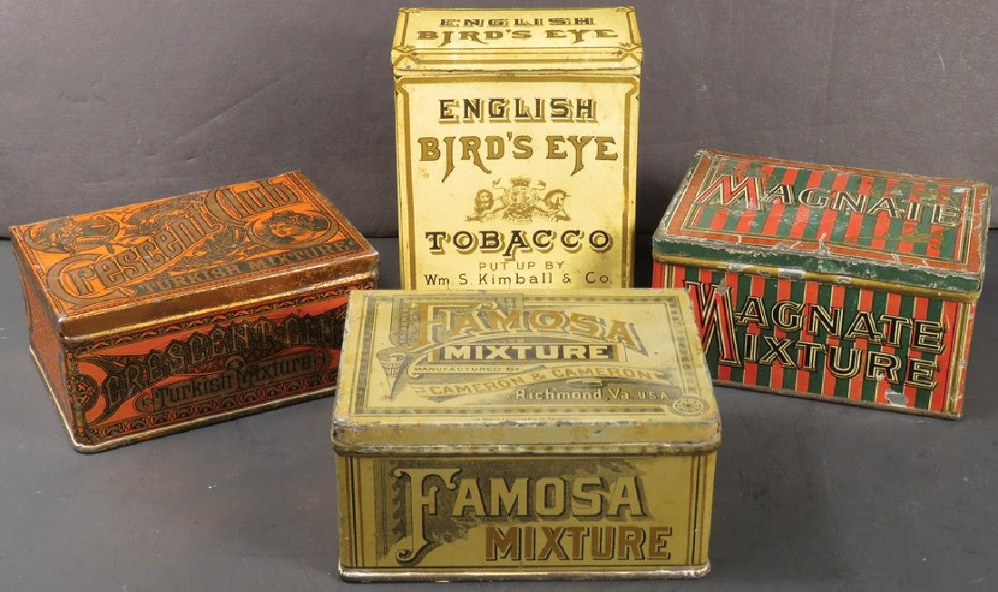 Four Tobacco Tins