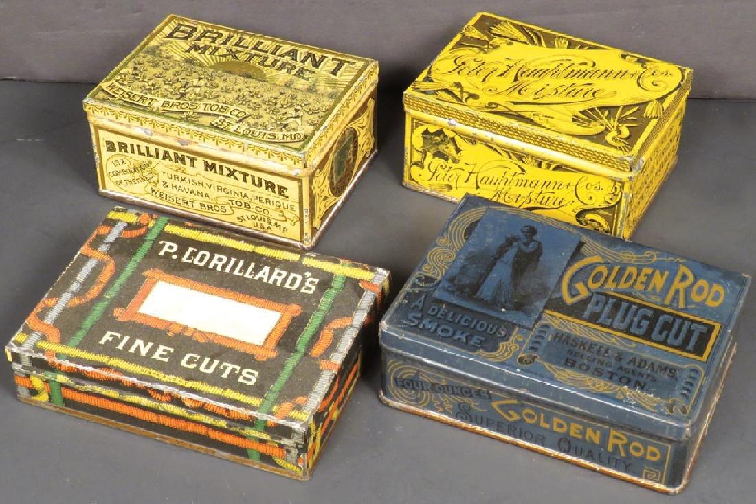 Four Square Corner Tobacco Tins