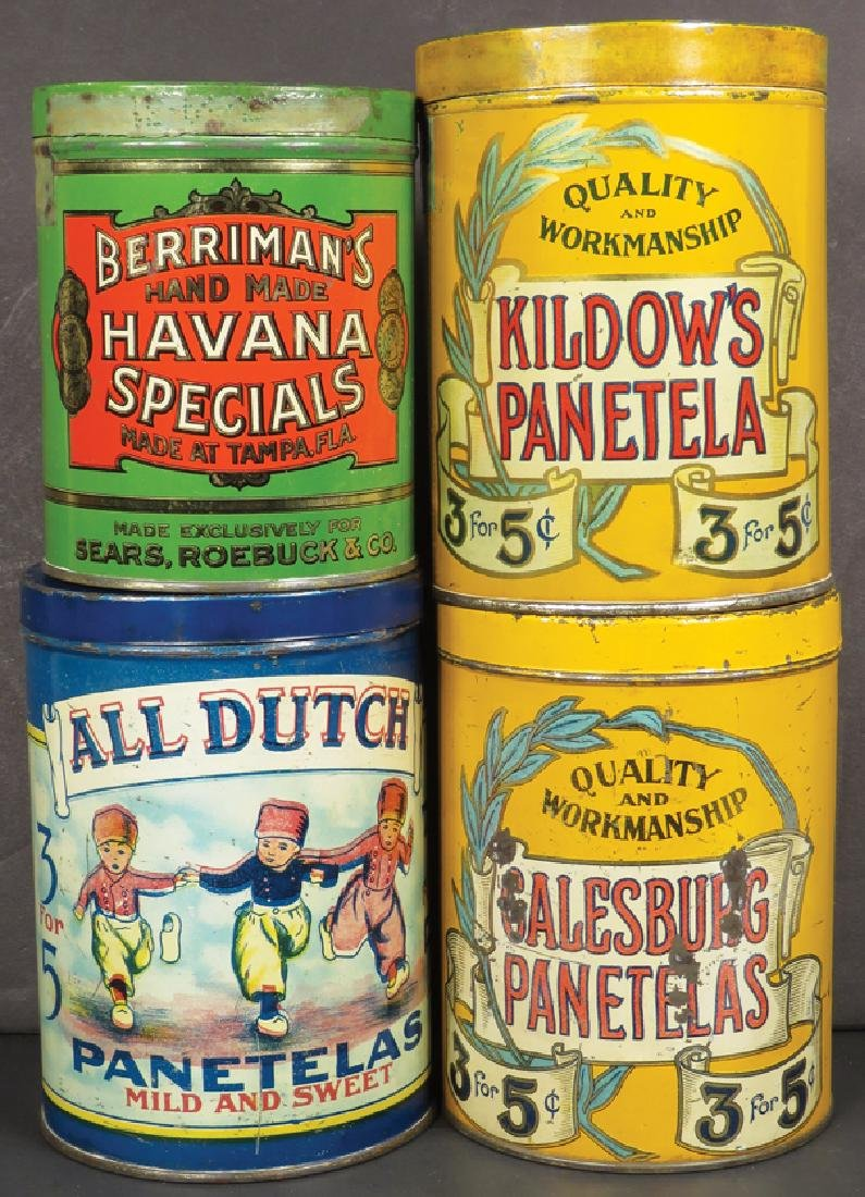 Collection of Four Cigar Tins