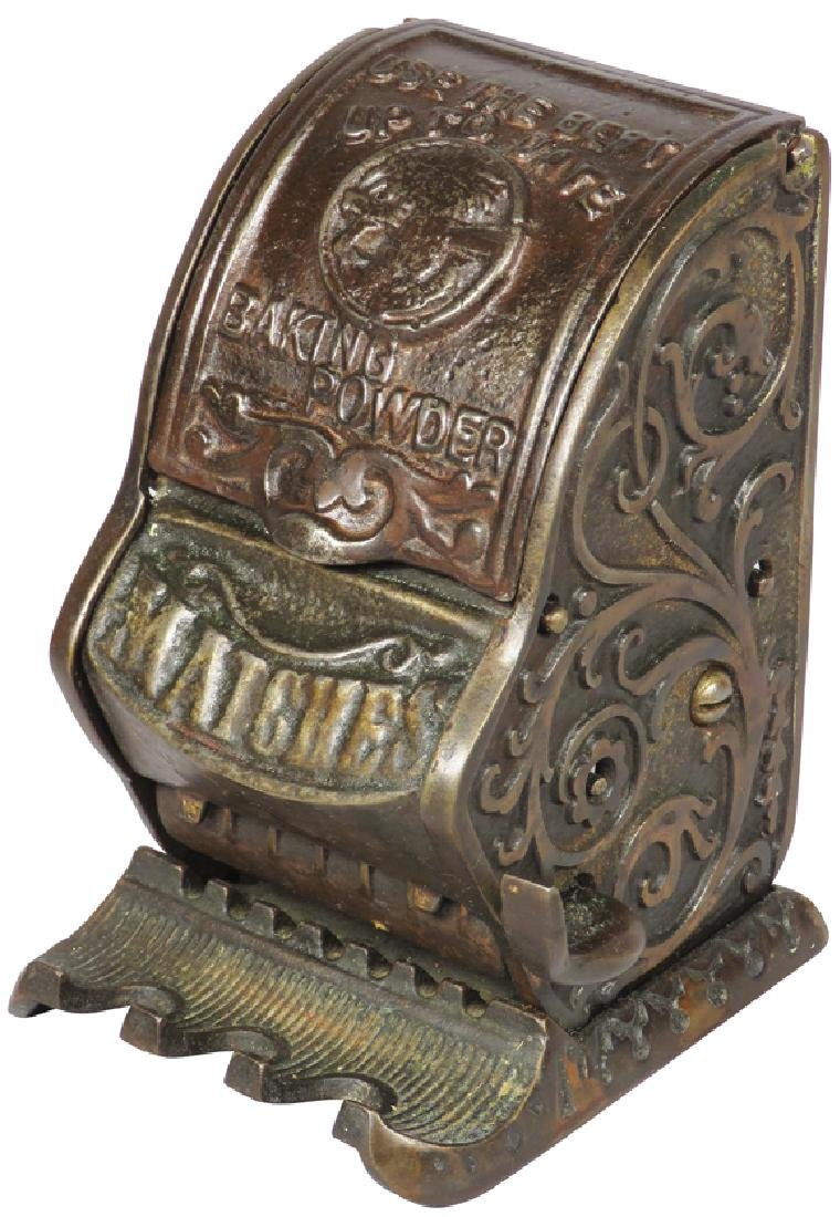 Rare Cast Iron Advertising Match Dispenser
