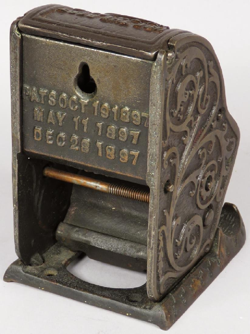Rare Cast Iron Advertising Match Dispenser - 2