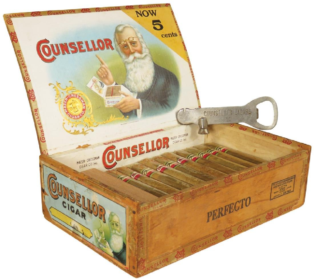 Counsellor Cigars Box and Opener, Detroit
