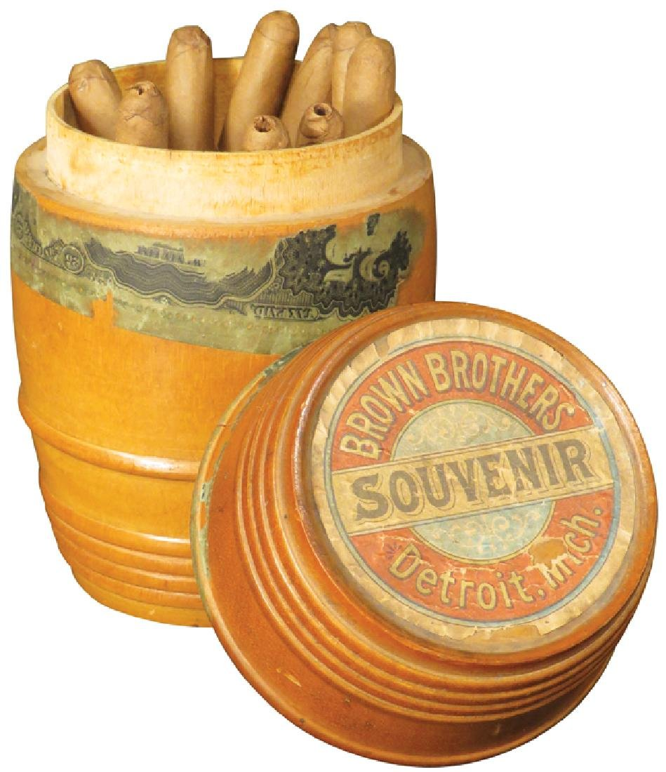 Brown Brothers Detroit Wood Cigar Barrel