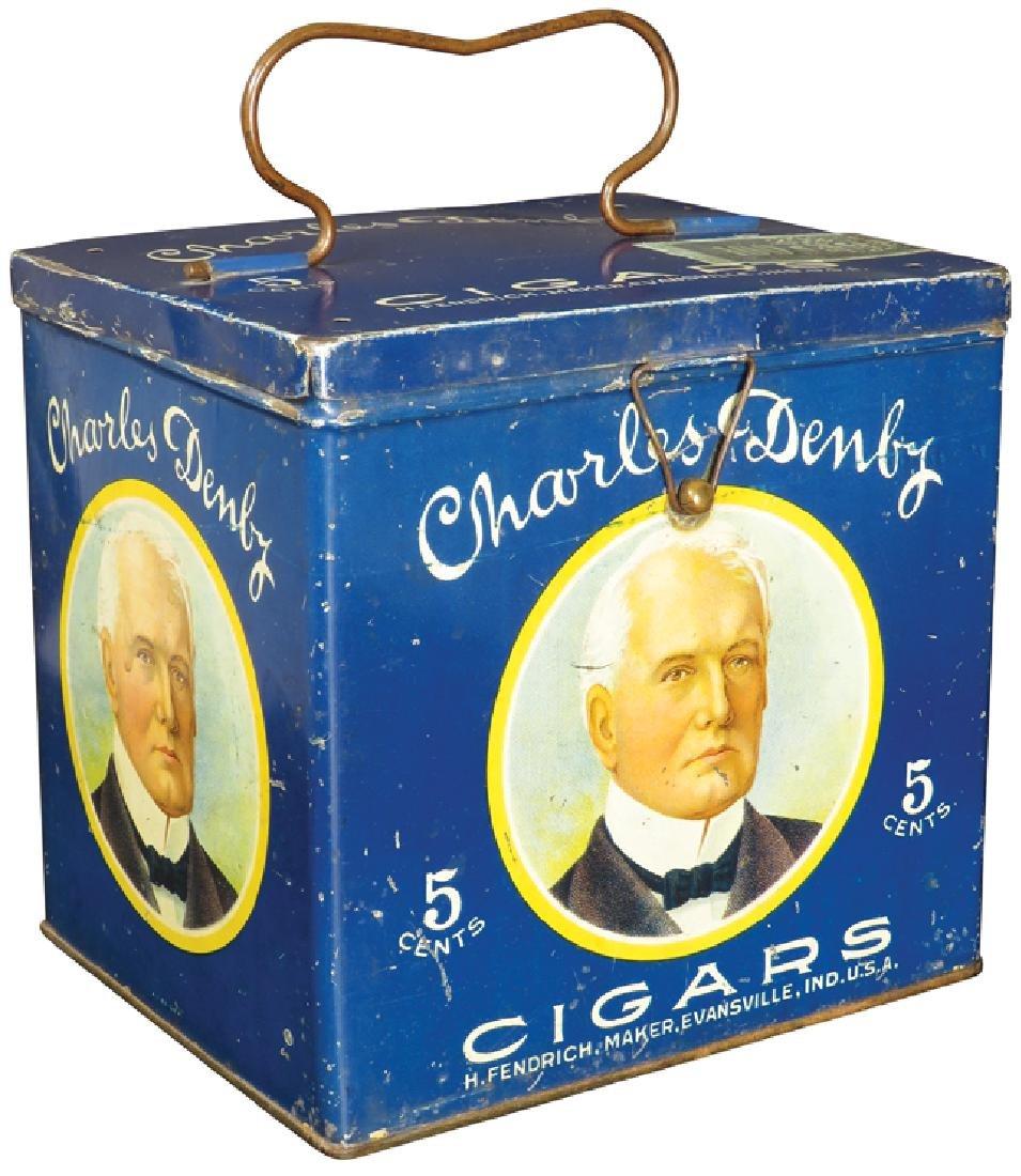 Charles Denby Cigars Lunch Pail Cigar Tin