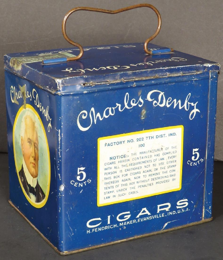 Charles Denby Cigars Lunch Pail Cigar Tin - 2
