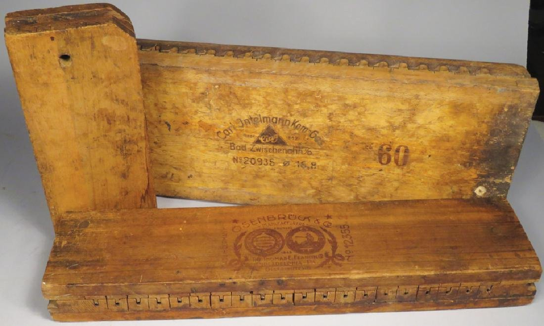 Three Early Wood Cigar Molds