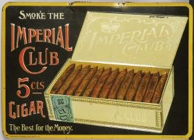 Imperial Club Cigars Embossed Tin Sign