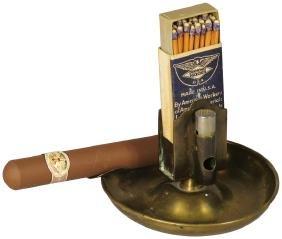 Bradley Hubbard Brass Smoking Station
