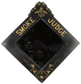 "Smoke ""The Judge"" Tobacco Advertising Mirror"