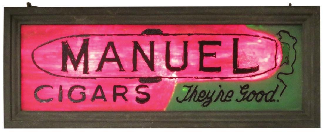 Manuel Cigars Light Up Hanging Sign