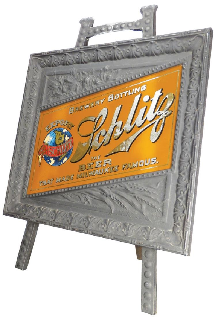 Schlitz Brewing Company Reverse Glass Sign