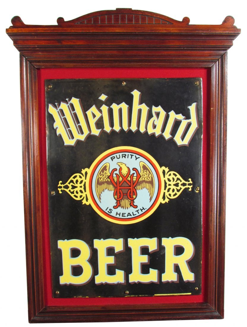 Weinhard Beer Porcelain Sign