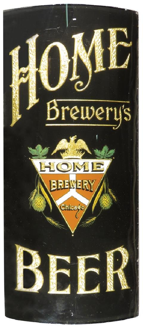 Home Brewery Beer Curved Reverse Glass Sign