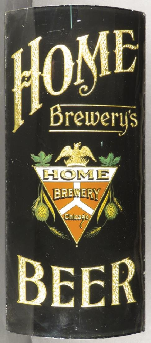 Home Brewery Beer Curved Reverse Glass Sign - 2