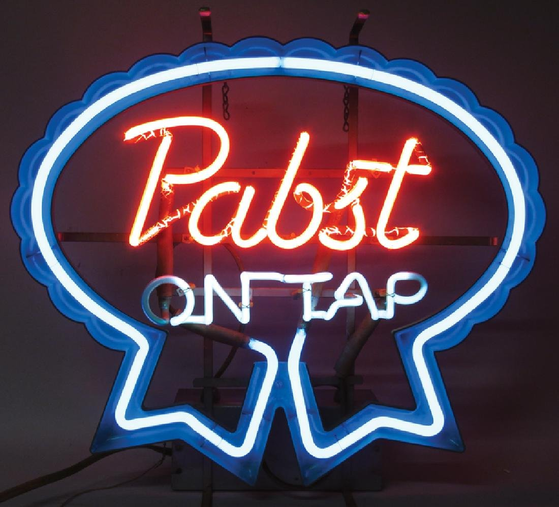 """Pabst Blue Ribbon """"On Tap"""" Vintage Neon Sign - 2"""