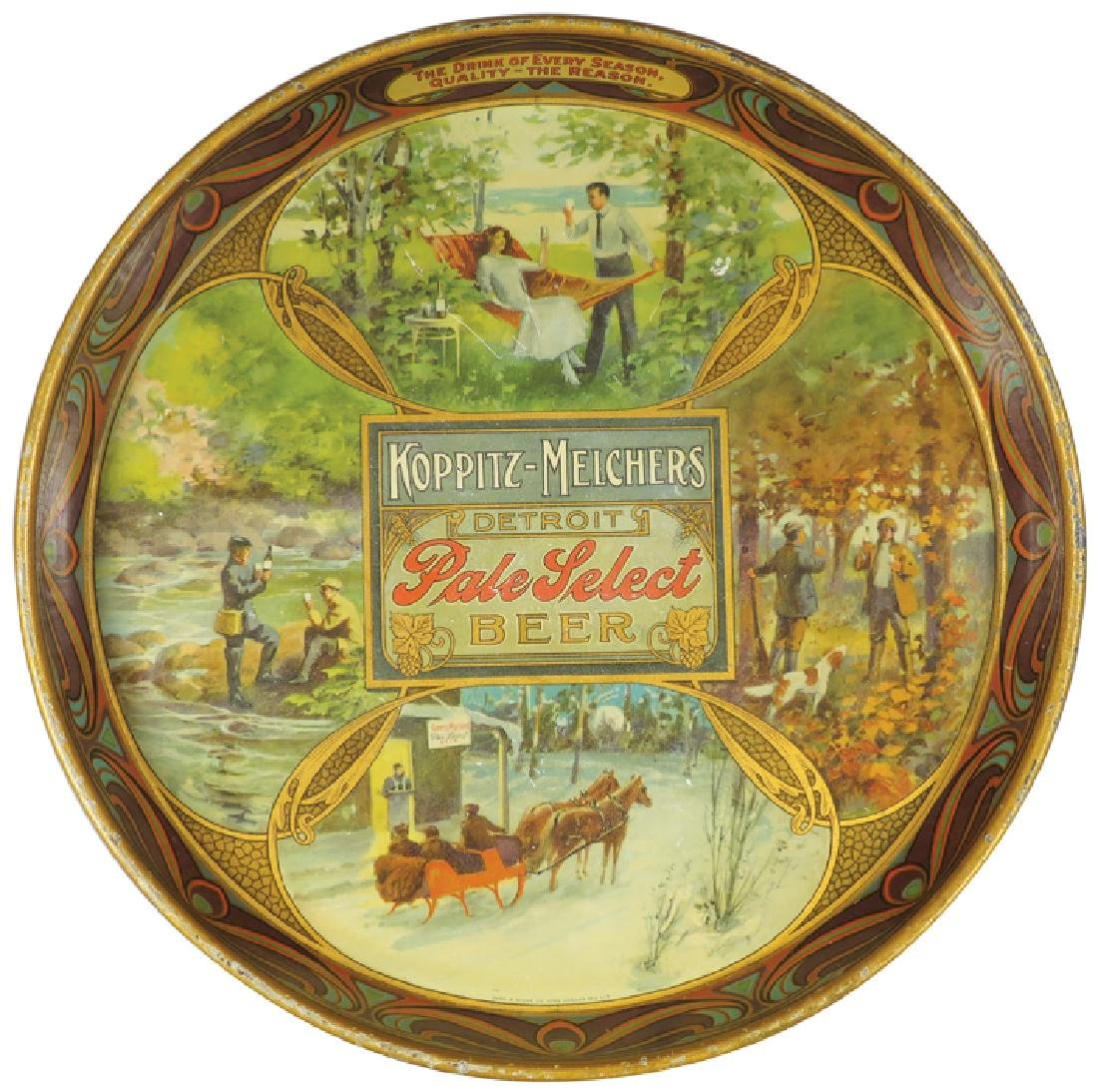 Koppitz-Melchers Detroit Tin Serving Tray