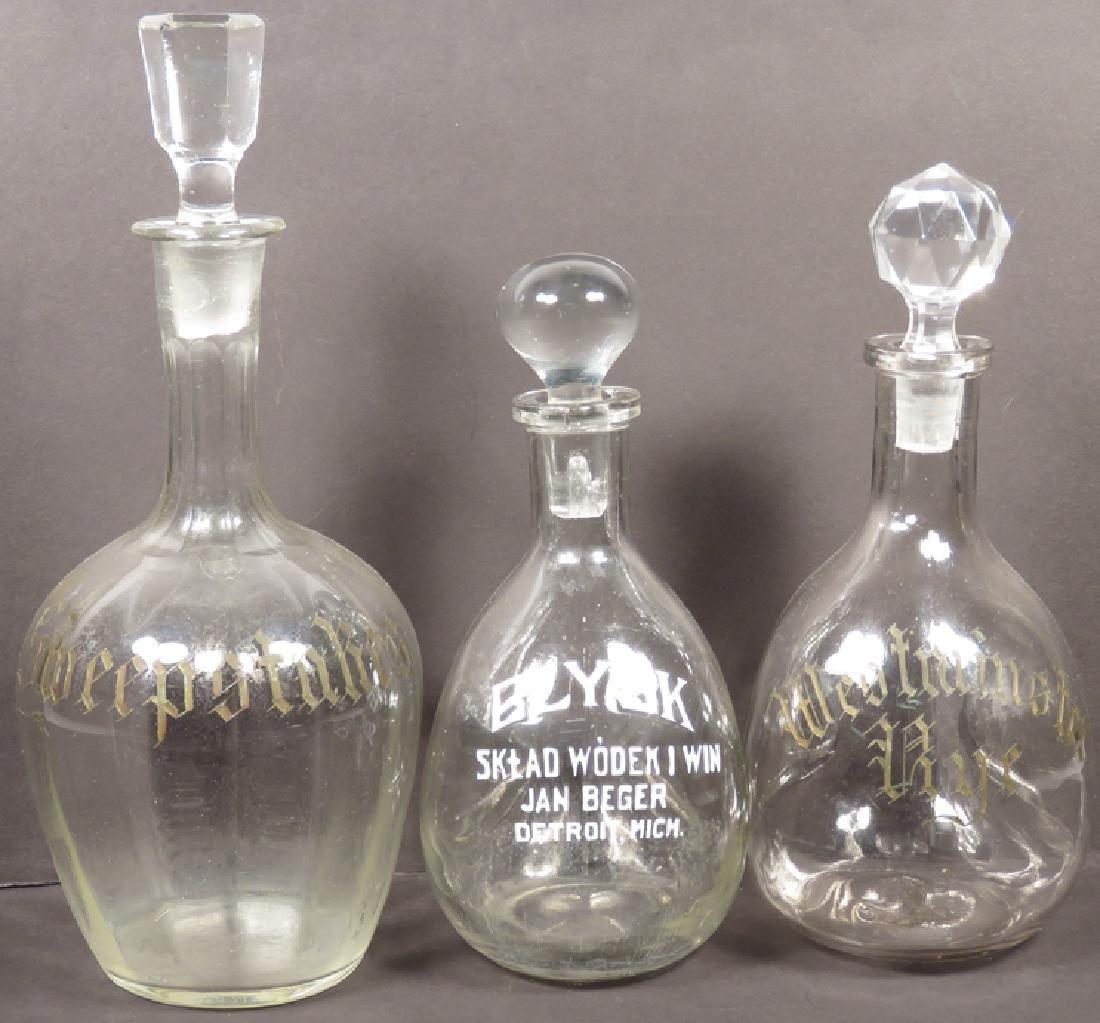 Three Detroit Liquor Decanters