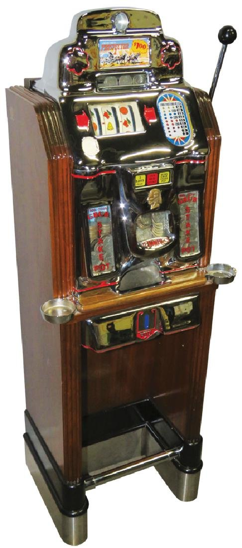 Jennings Silver Dollar Console Slot Machine
