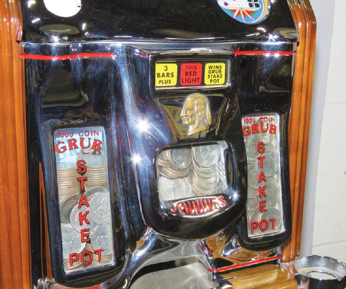 Jennings Silver Dollar Console Slot Machine - 2