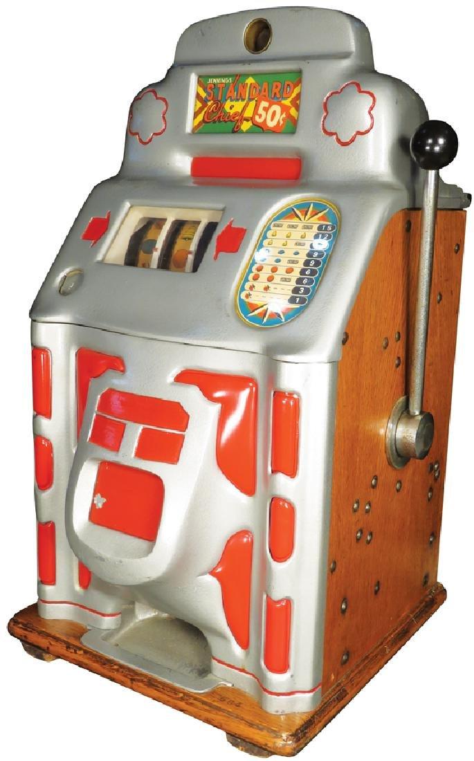 Jennings 50 Cent Standard Chief Slot Machine