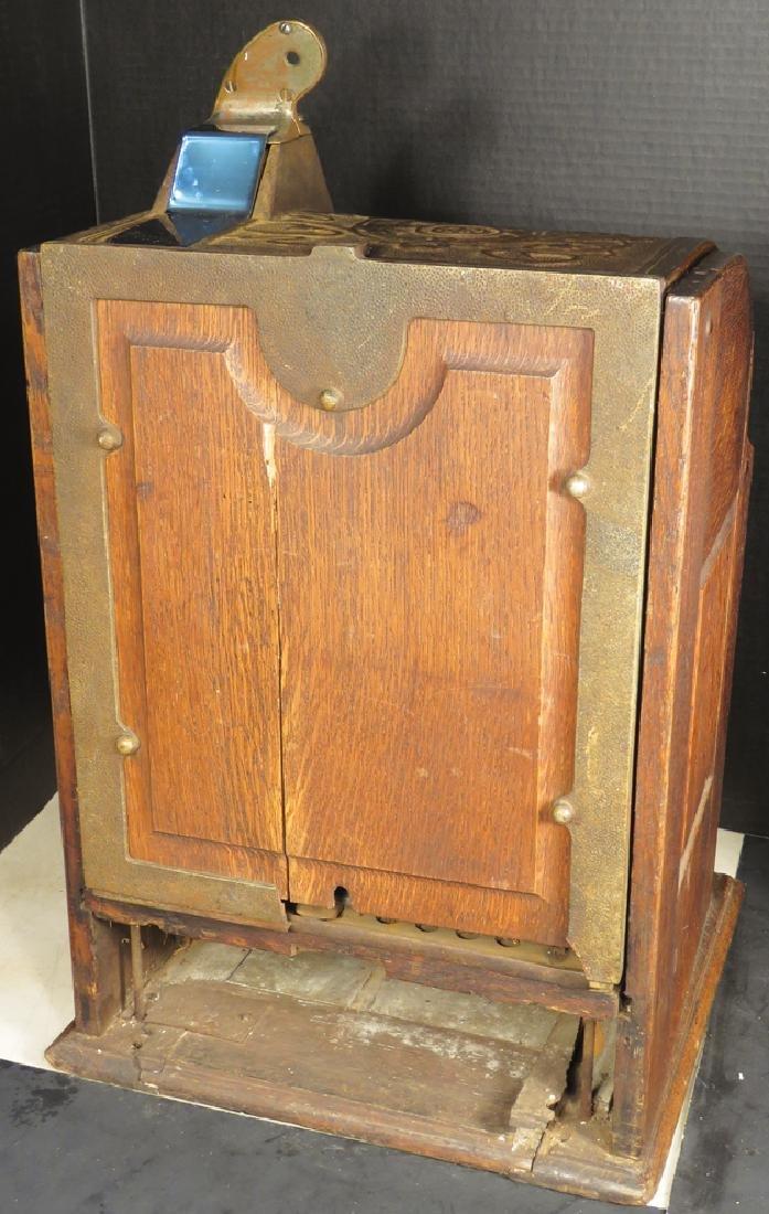 Jennings 5 Cent Slot Machine w/Oak Cabinet - 2