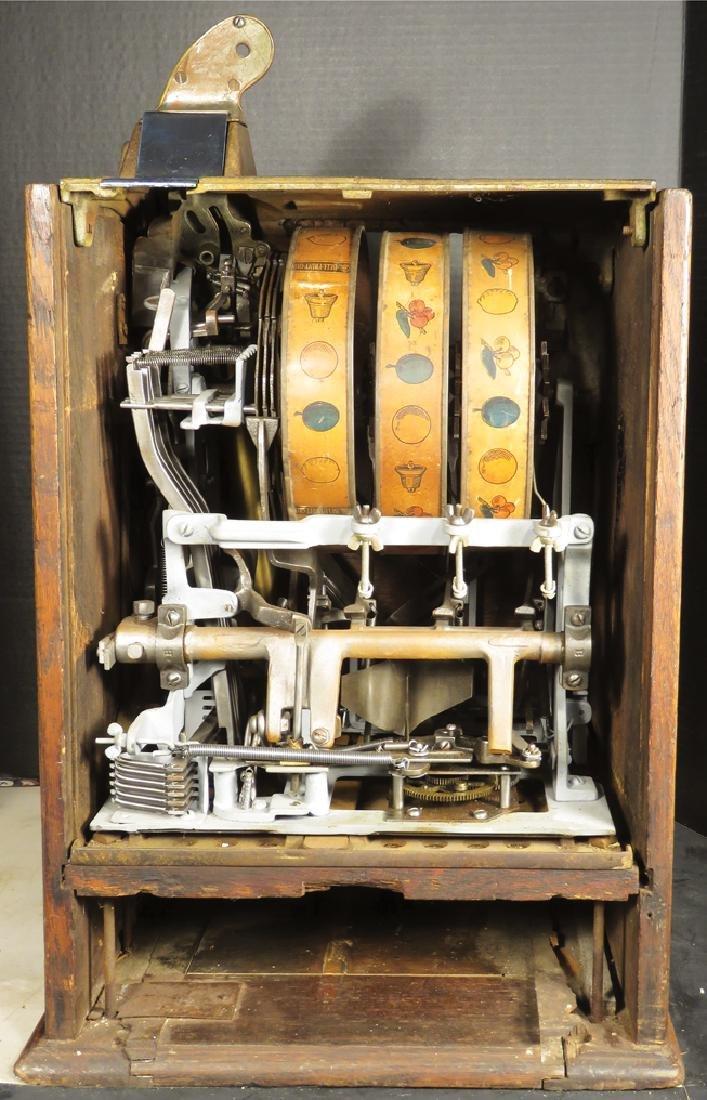 Jennings 5 Cent Slot Machine w/Oak Cabinet - 3