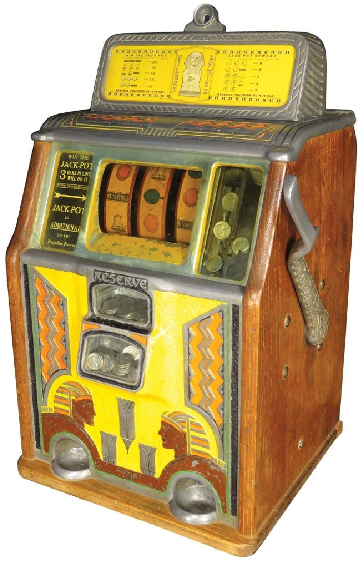 Caille Bros. 5 Cent Silent Sphinx Slot Machine