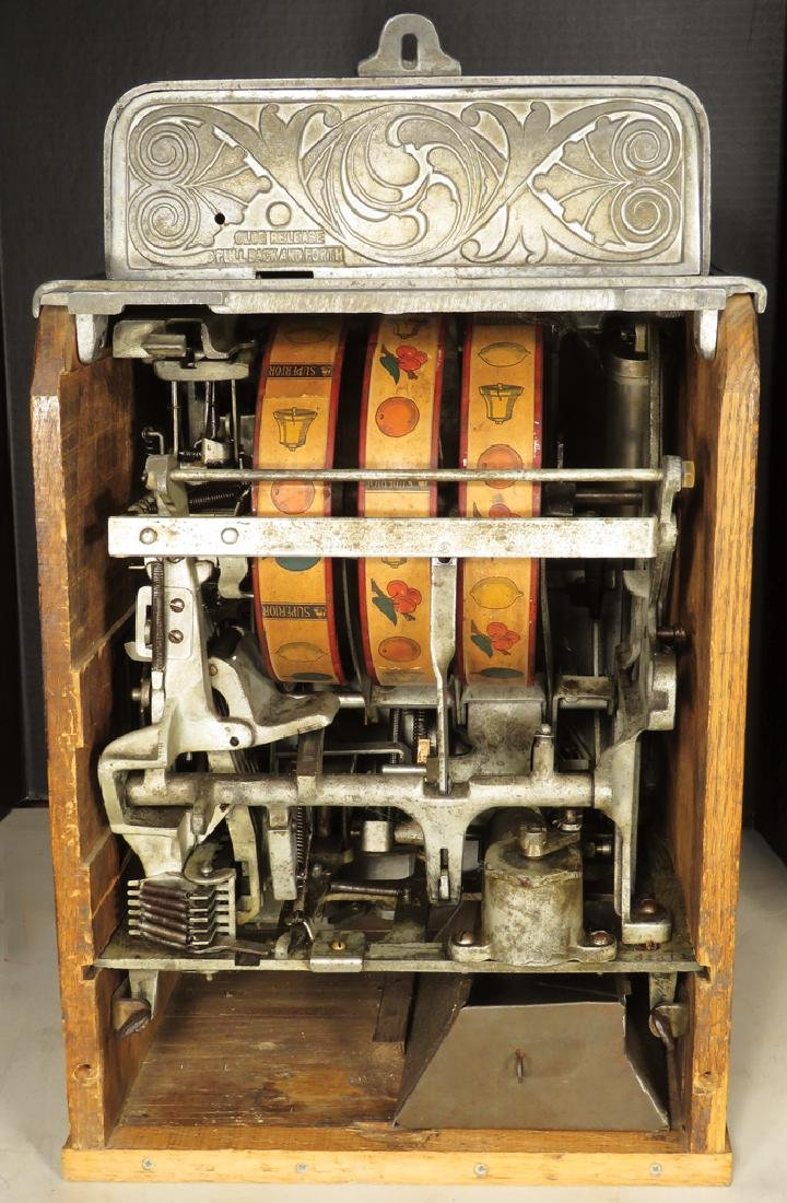 Caille Bros. 5 Cent Silent Sphinx Slot Machine - 3