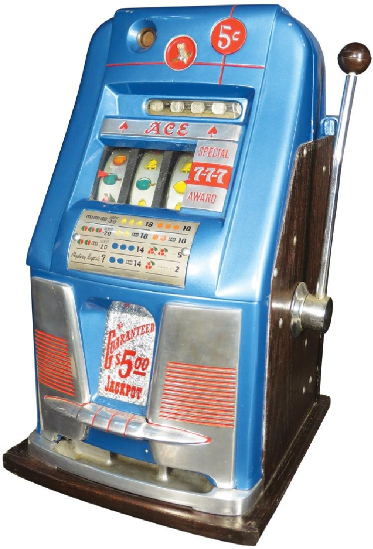 """Mills 5 Cent """"Ace"""" Special Award Slot Machine"""