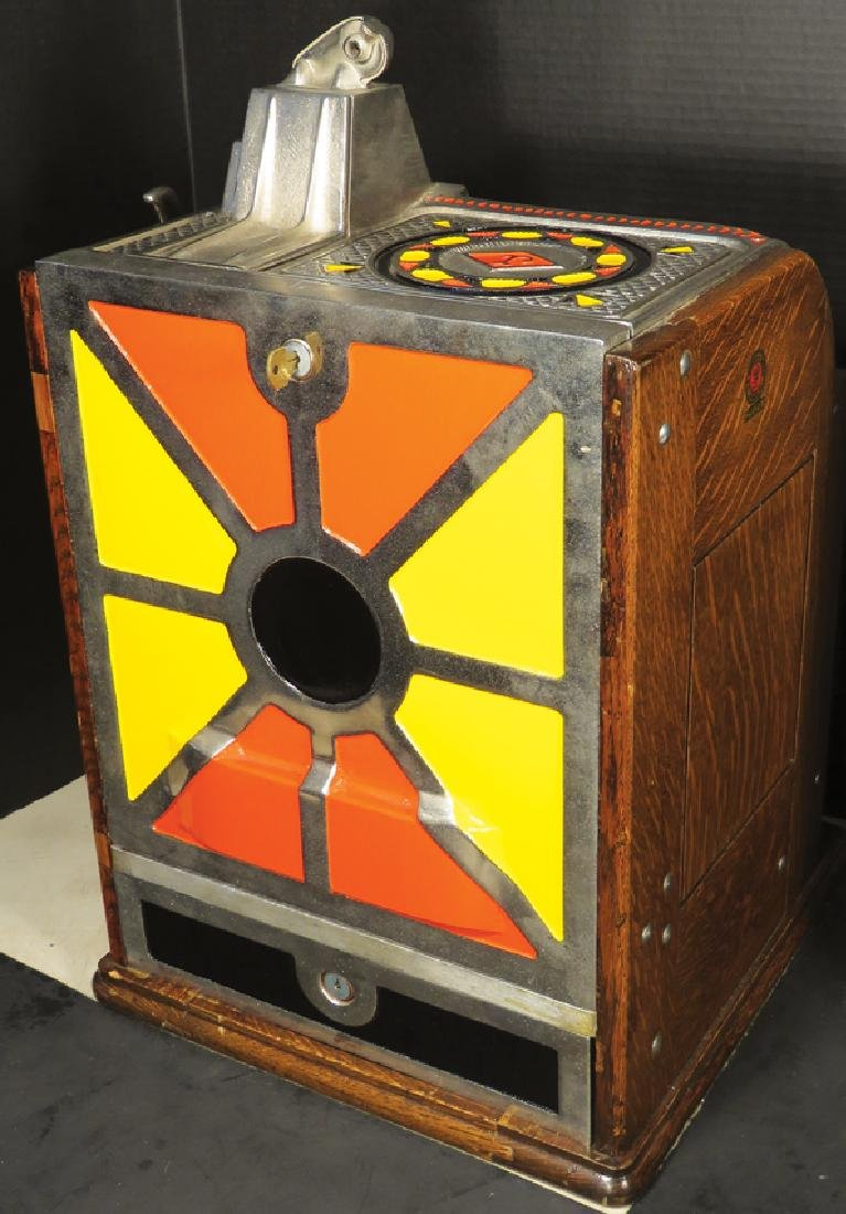 Jennings 10 Cent Victoria Silent Slot Machine - 2