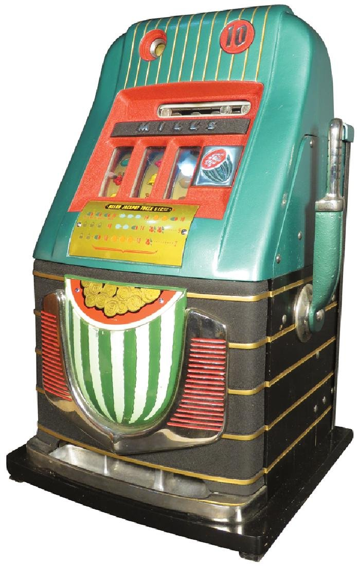 Mills 10 Cent Watermelon Slot Machine