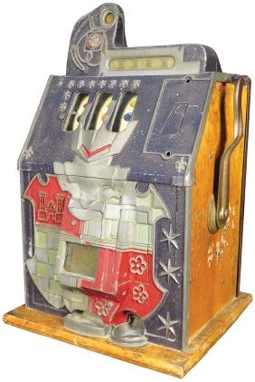 Mills 5 Cent Castle Front Slot Machine